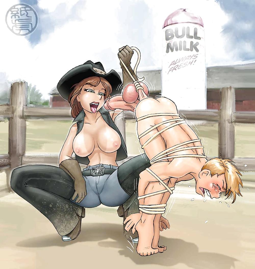 Femdom cowgirl cartoon