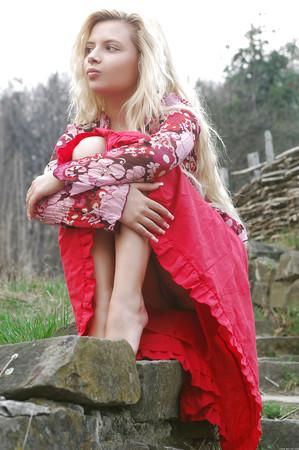 upskirt blonde