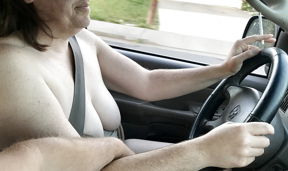 Flashing tits while driving