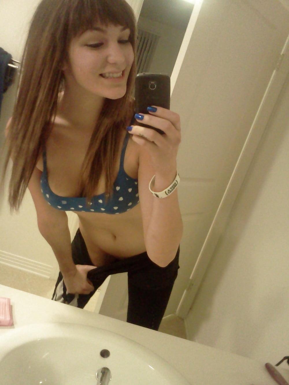 Hot brunette college girl-6851