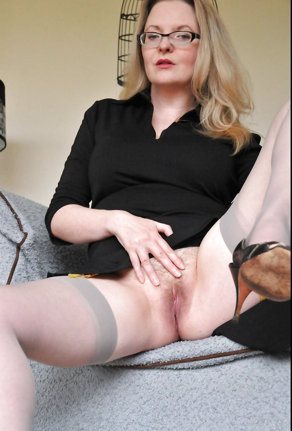 Office hairy mature pantyhose hairy