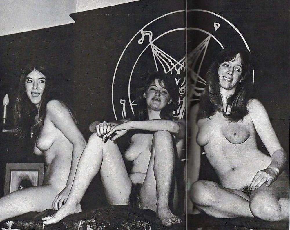 Satanic nudes, boy humping girl naked