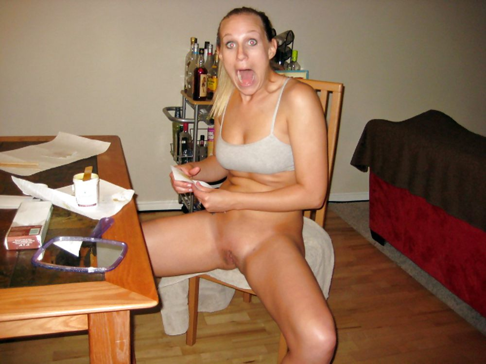 Hot milf caught nude #8