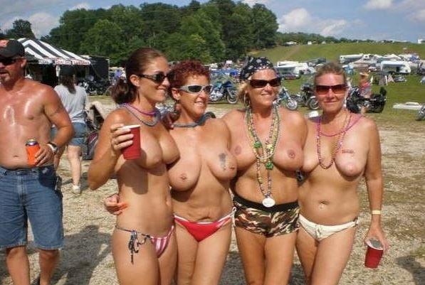 Nude bikers party 10