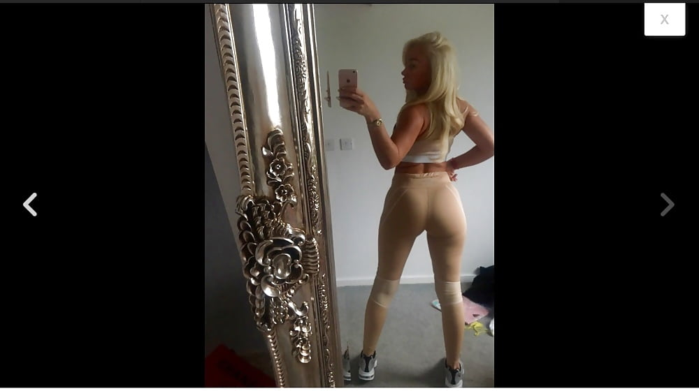Sexy blonde in yoga pants