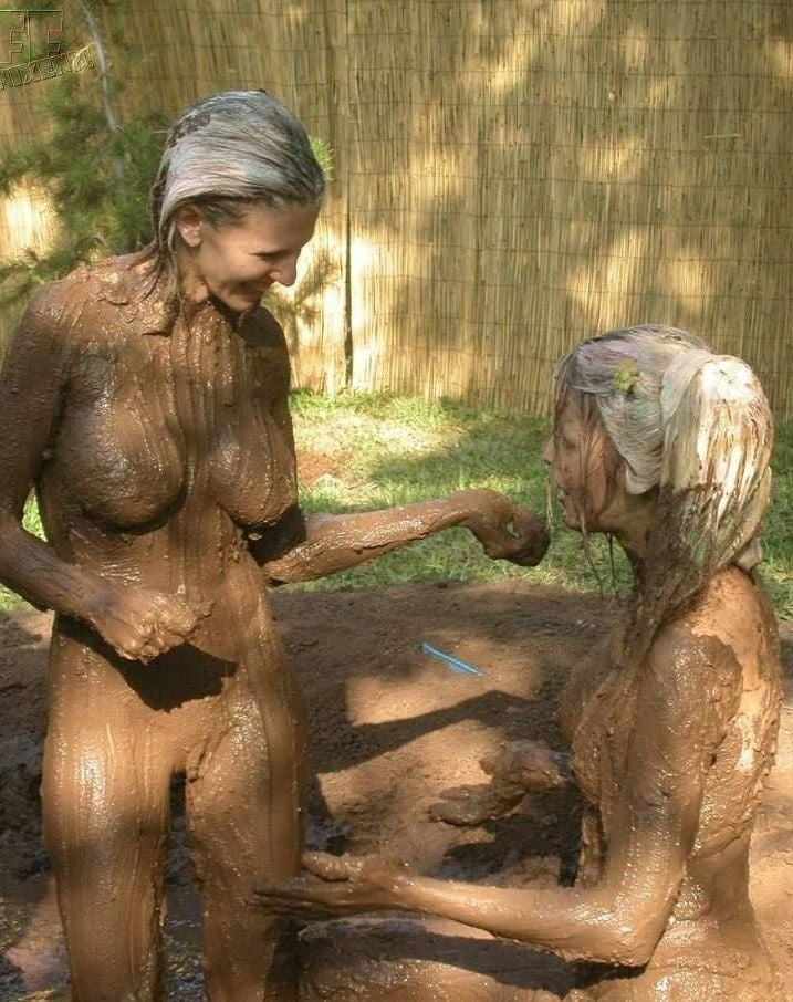 Mud wrestling naked gay men