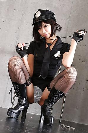 japanese girl black fishnet stockings