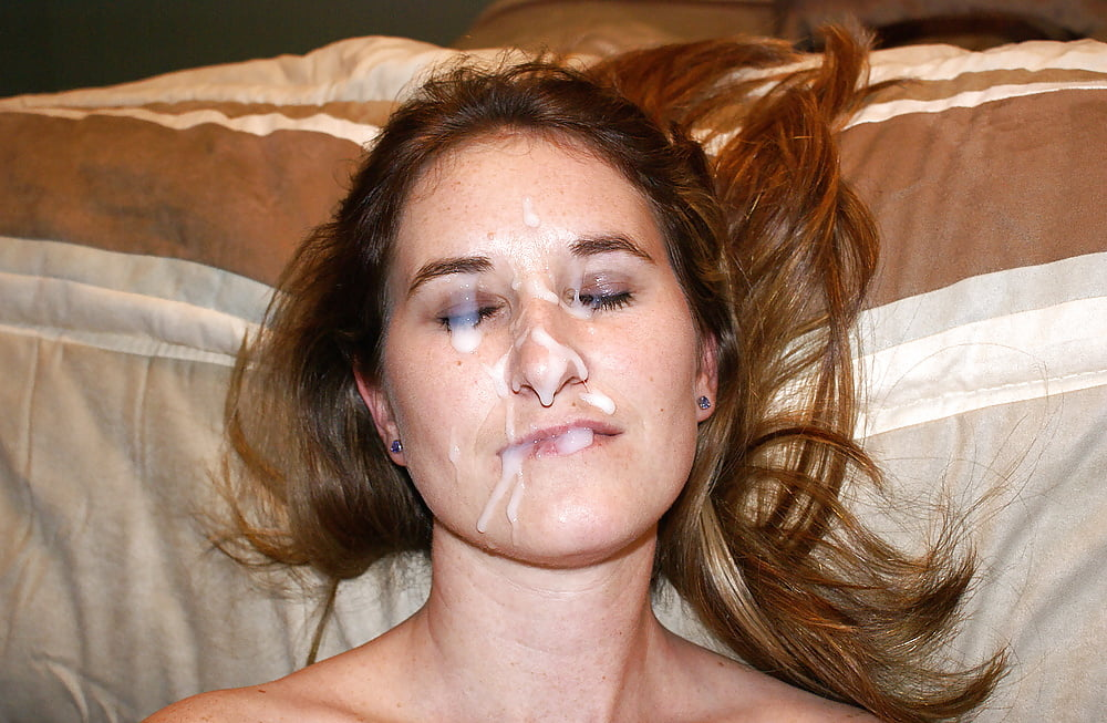 Amateur Girlfriend Takes Cum On Her Face