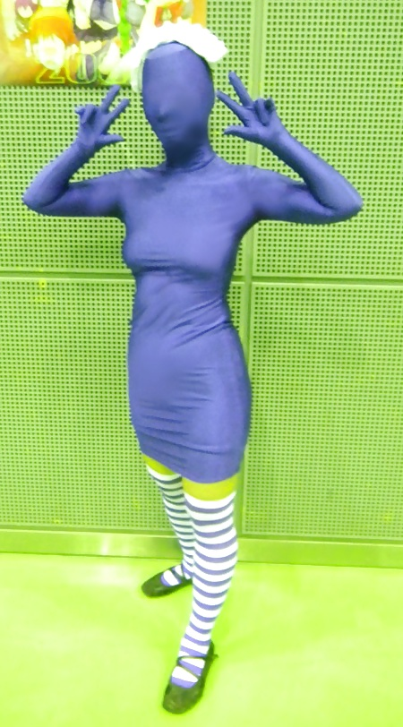 Blue Zentai Body Worship And Musical Lust
