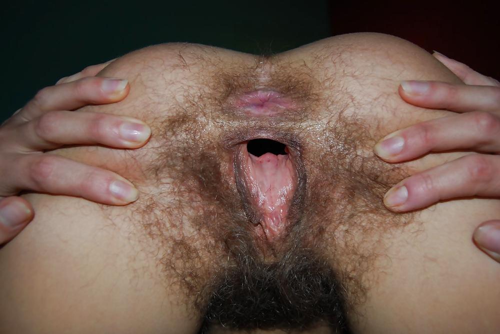 Порно волосатое очко фото