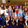 Mom and the girls at the roller rink