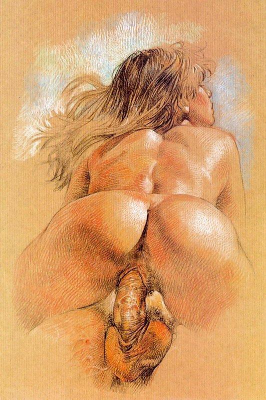 Большие пизда порно арт картины