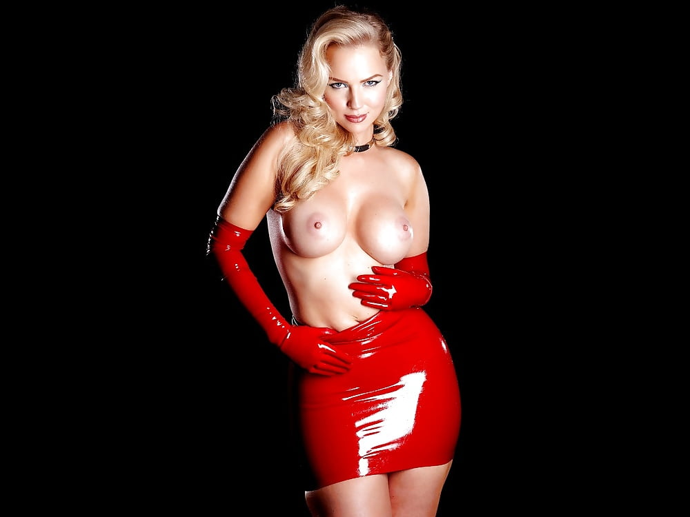 Ancilla Tilia Looks Stunning In A Red Latex Dress