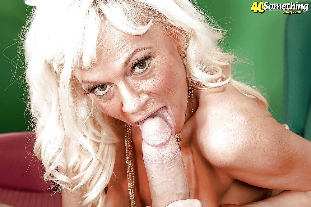 Platinum blonde mature women 13