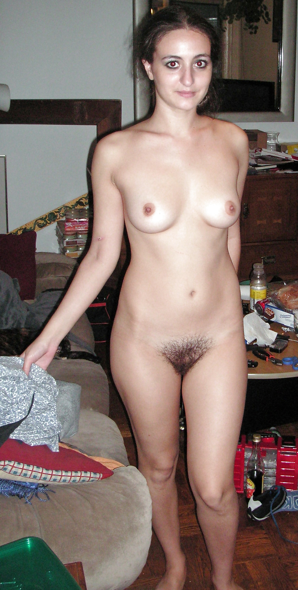Teen ex girlfriend hairy nude photo #9