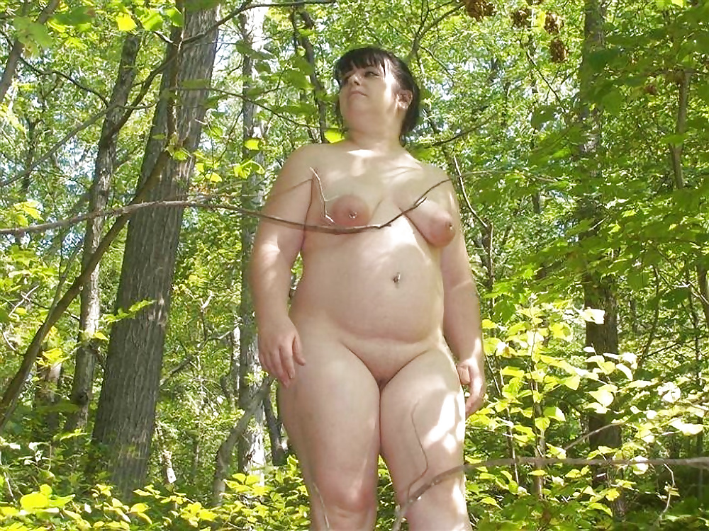 naked bbw amateur outdoors