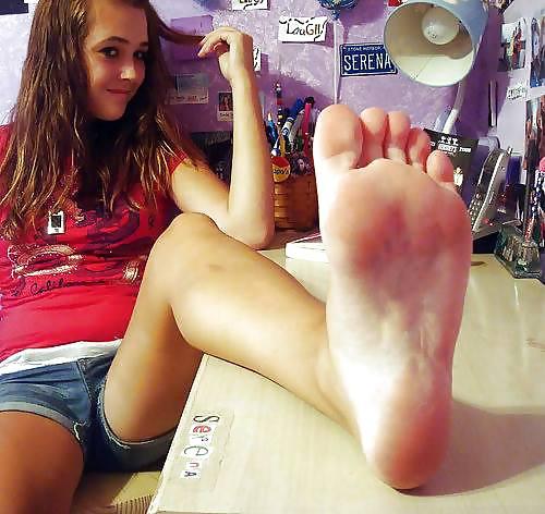 Foot fetish porn star