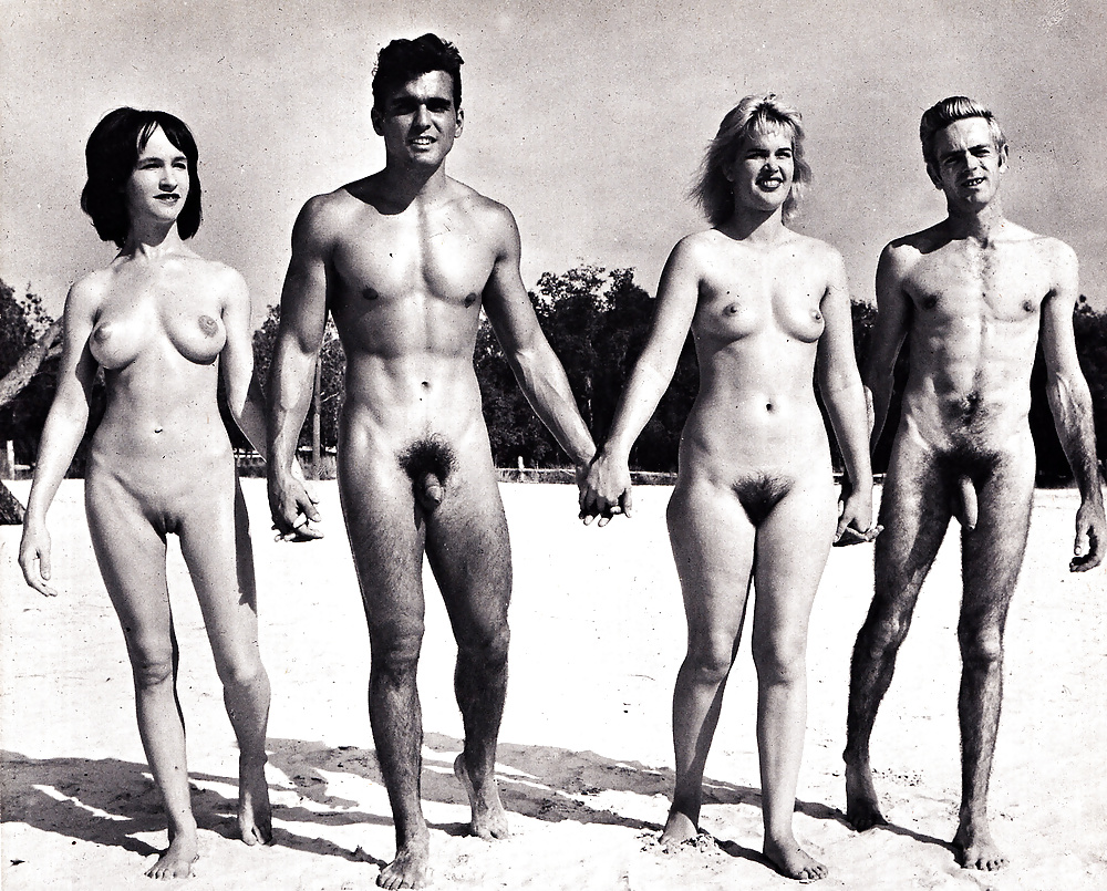 black and white photos of naked groups