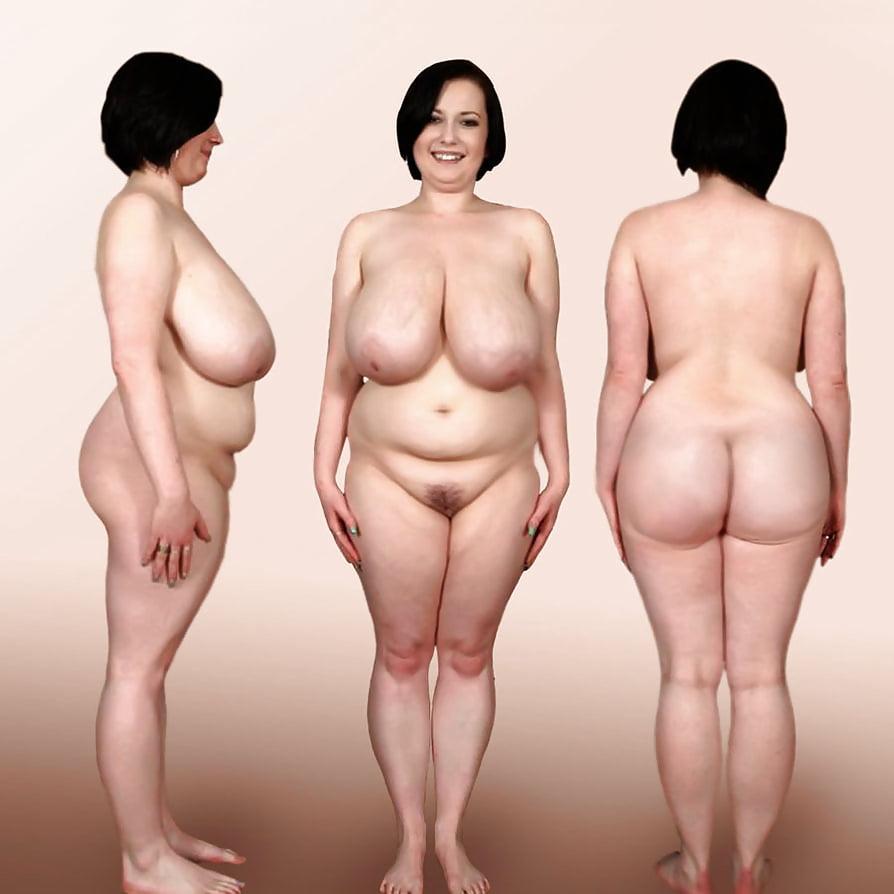 Averaged sized nude women