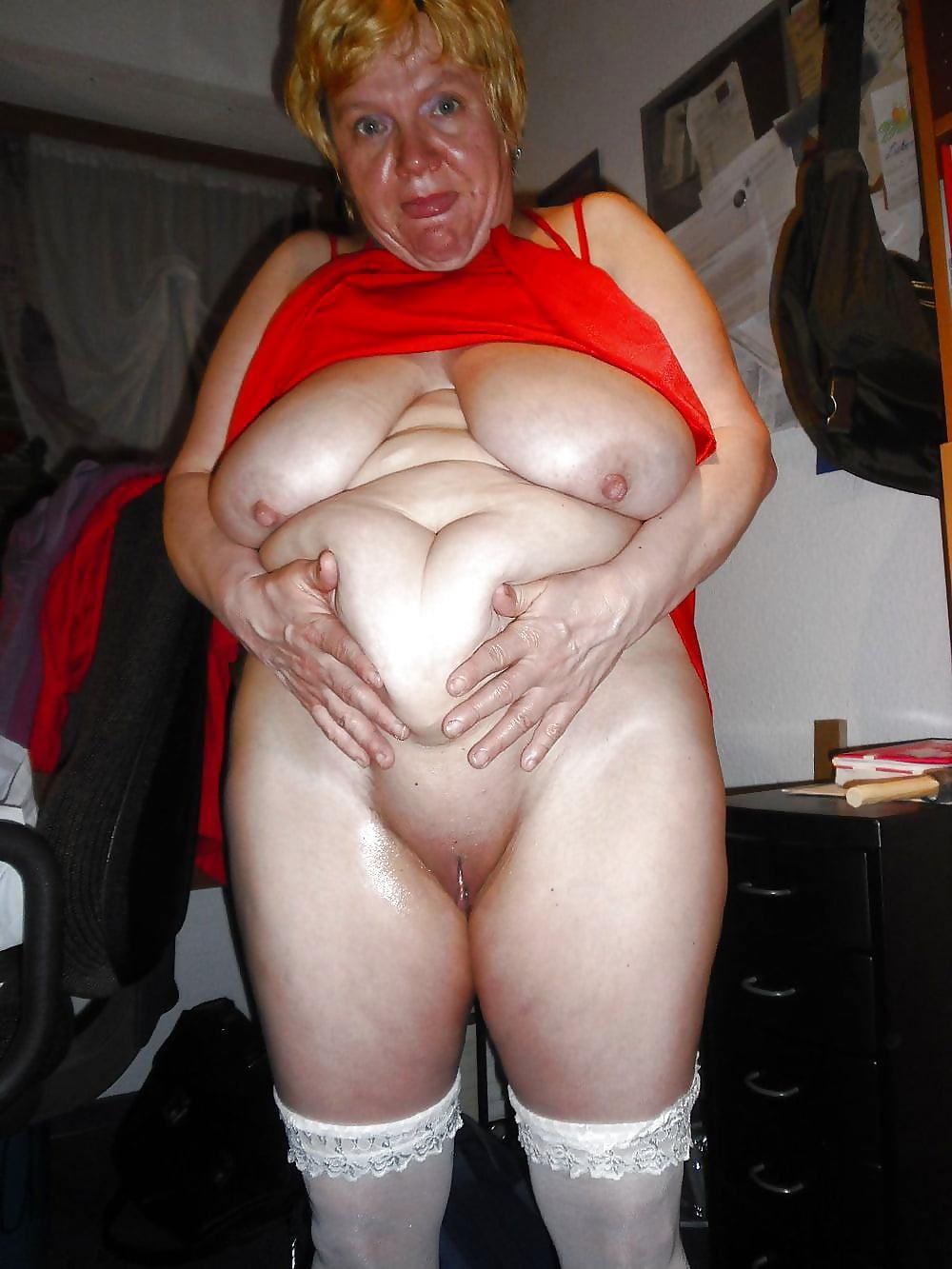 Old old plump granny anna