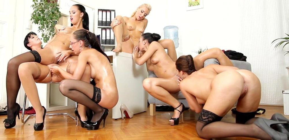 Happy Secretary Nude Group Party Wild Hardcore Taxi69 1