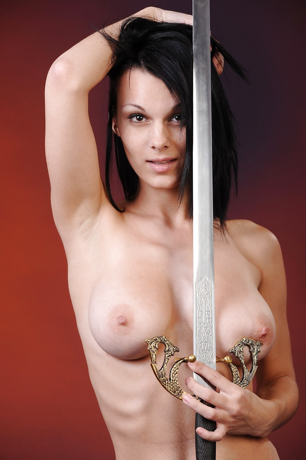 Girl with sword nude 7