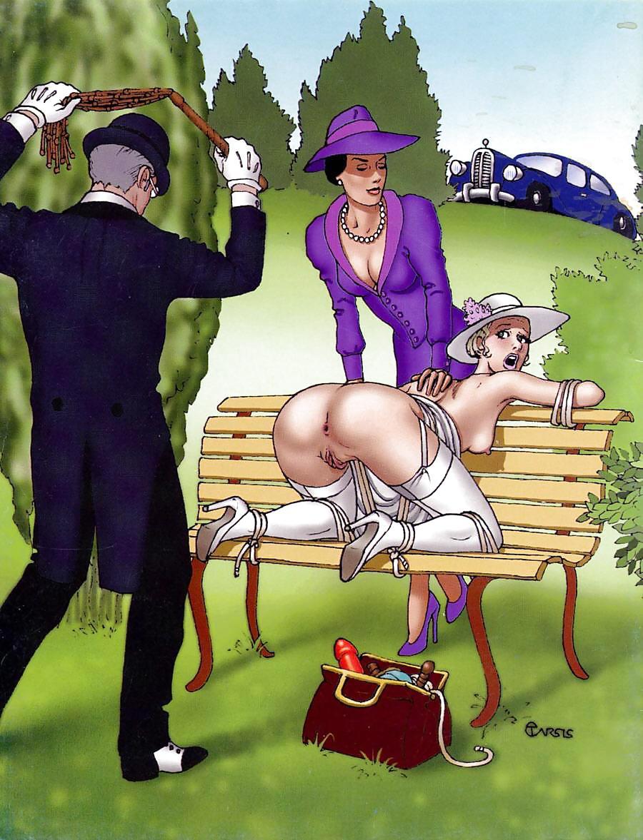 Adult spanking comic art