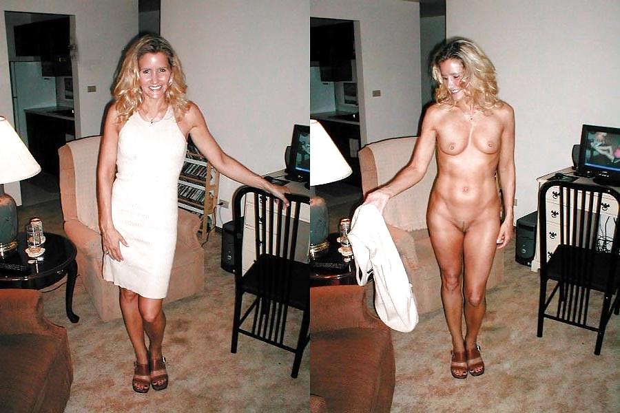 Amateur milf wife dressed undressed