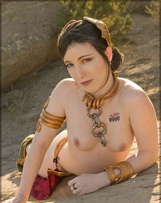 Leia down cute cosplay chick