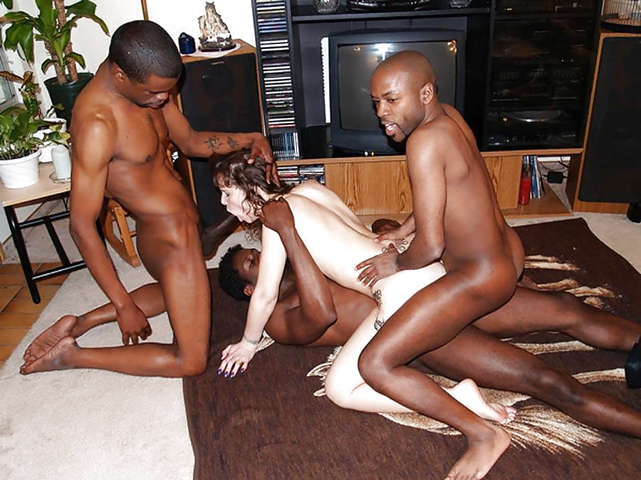 Gang bang white girl black guy 7