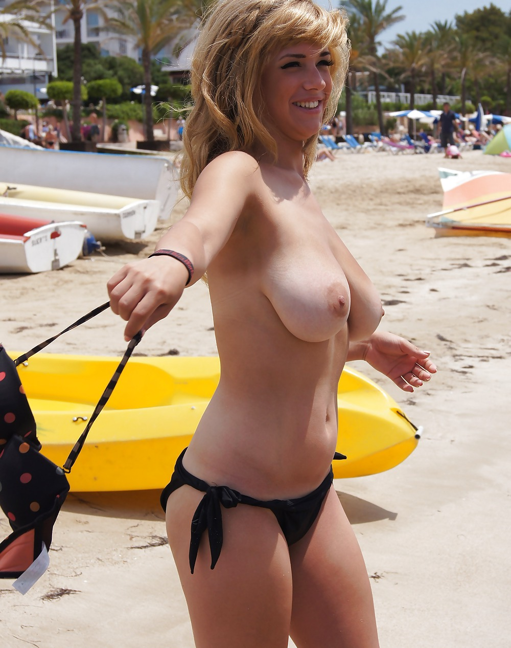 Young blonde on the beach