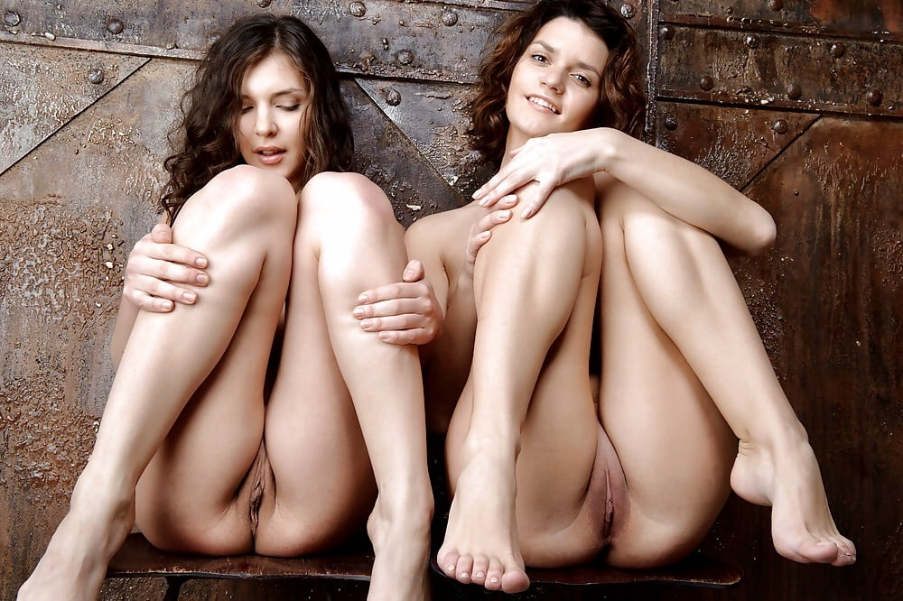 Nude legs together