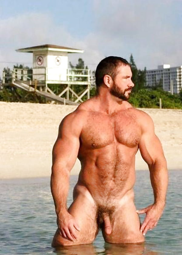 Hairy Muscle Men Naked Together