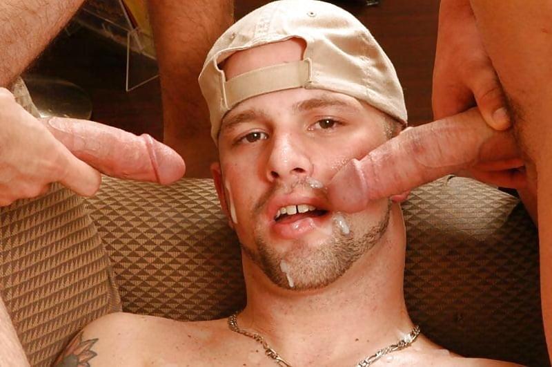 Gay facial cum photo clip