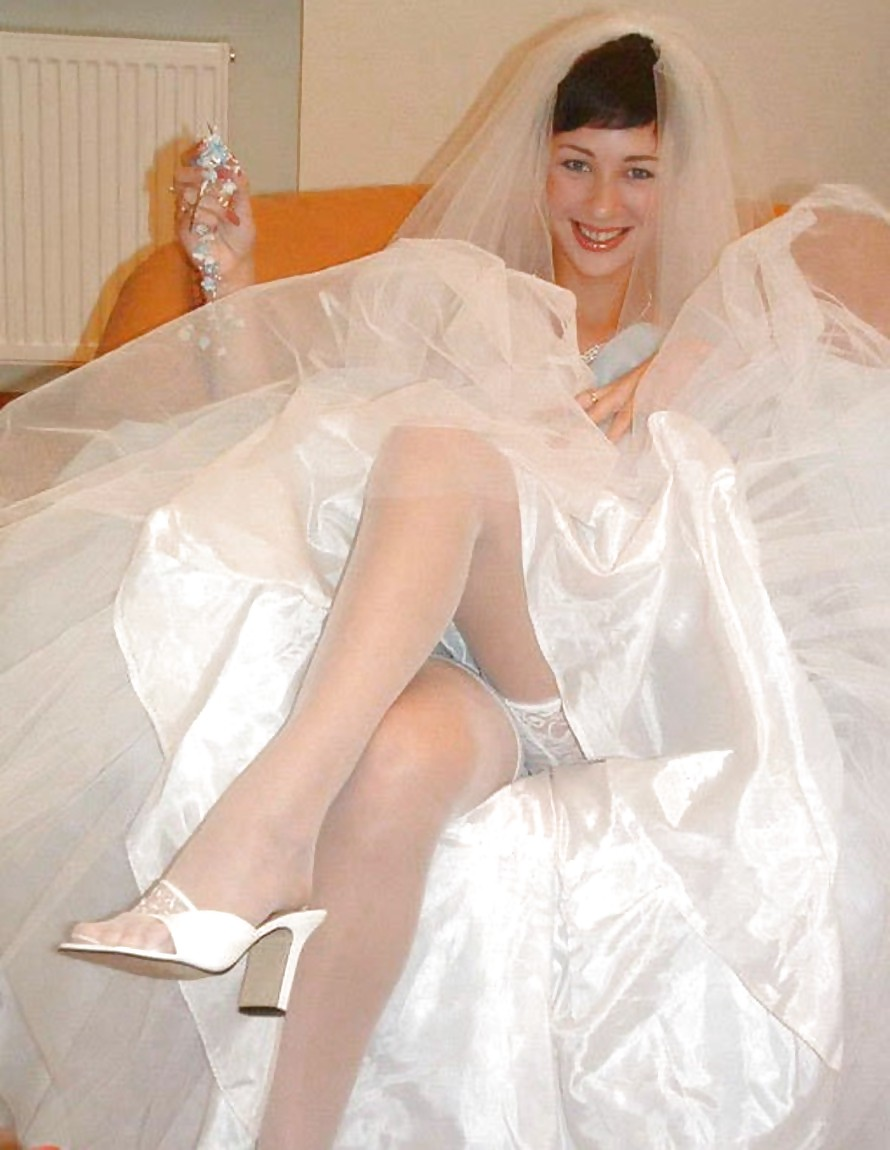 Xhampster wedding day pantyhose