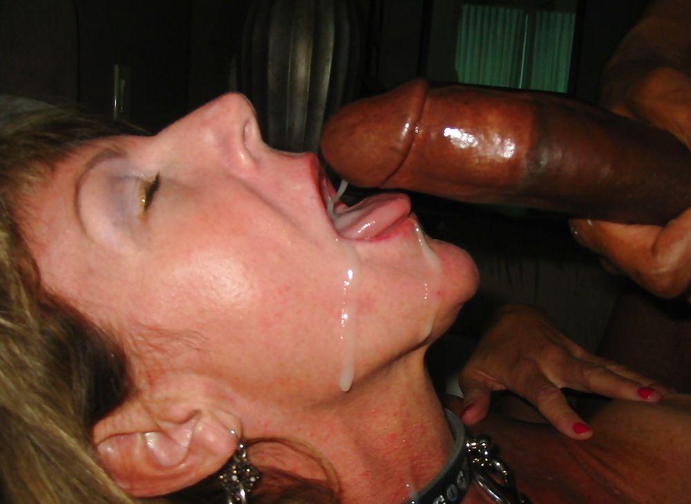 Mature cum mouth swallow