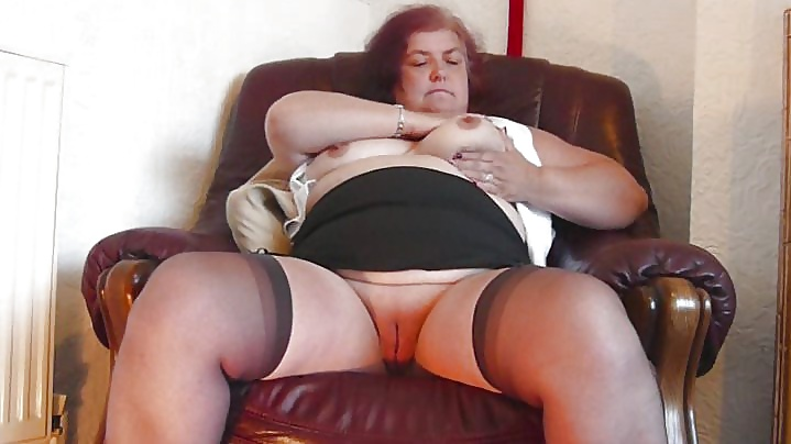 Granny shows her knickers