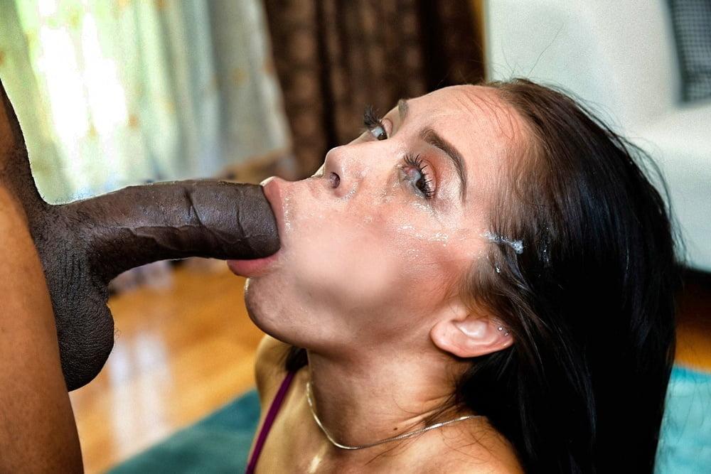Wife Deepthroats Black Cock