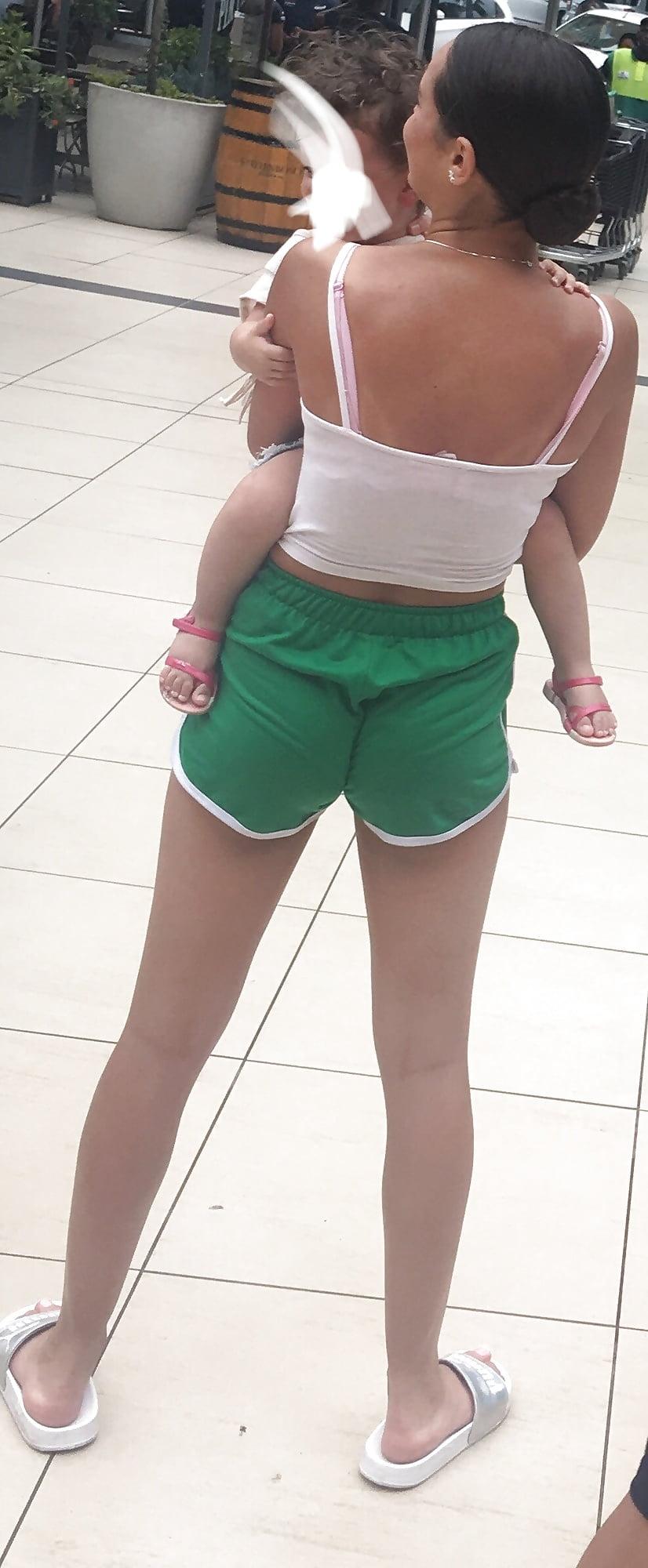 Teen in tight shorts