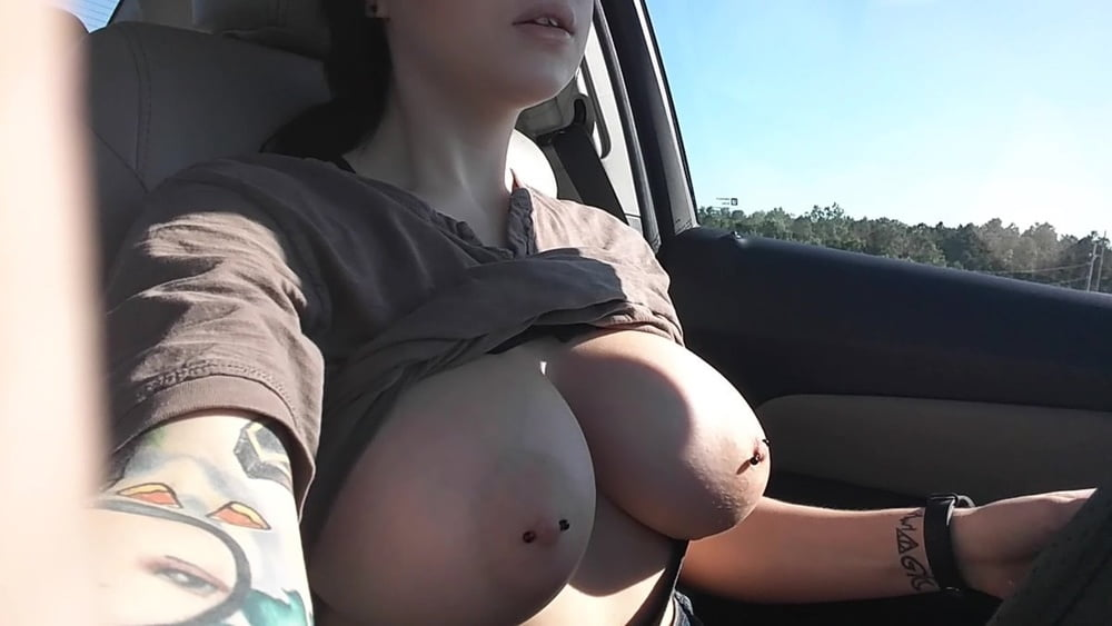 Big Tits Car Girl