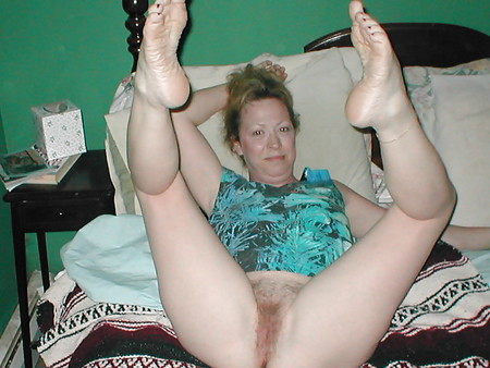 Wife's Pussy Feet and Legs Spread