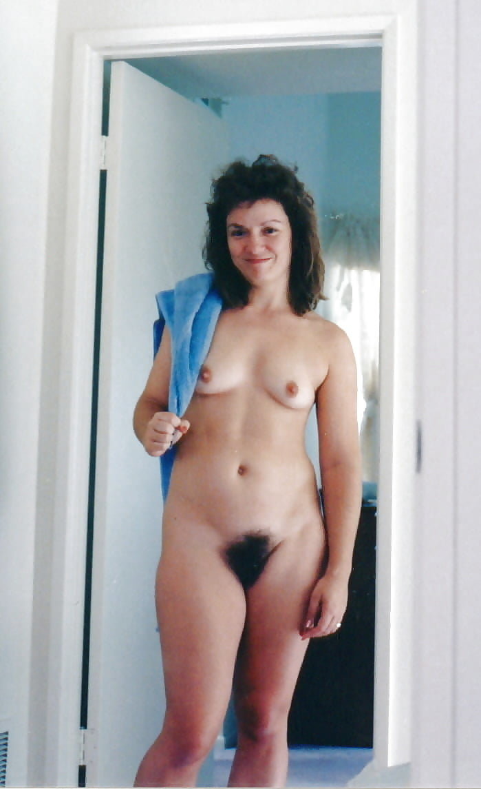 Natural hairy naked wife #7