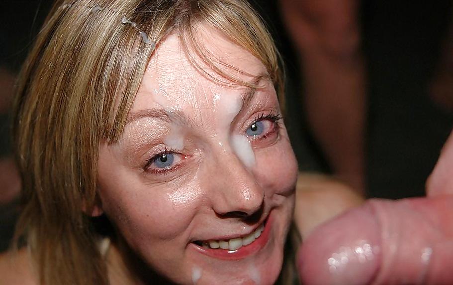 Bukkake Ladies Get Cum Facials On Their Faces