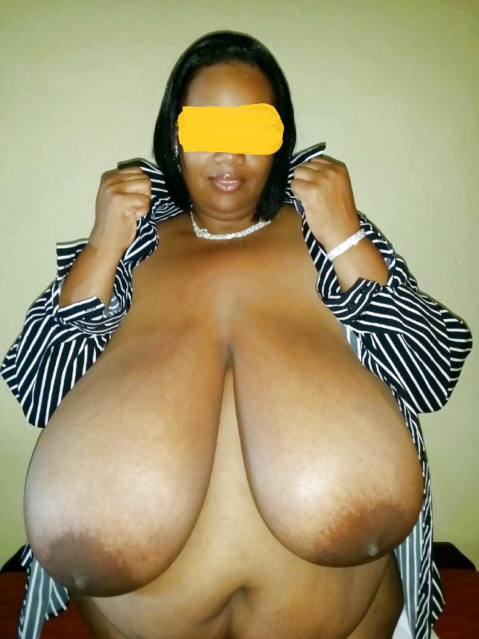 Black huge natural tits