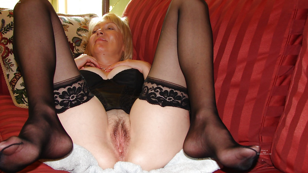 Mature women in bra and panty girdle