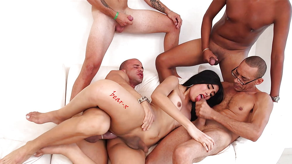 Amazing groupsex and roleplay in shemale gangbang