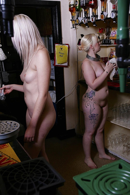 Nude bartender