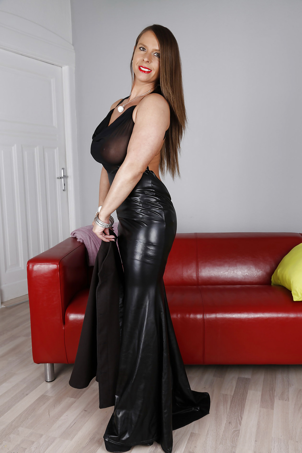 Late Model Super Soft Series Pvc Top Bustier Blouse Sexy Susi Pvc Skirt