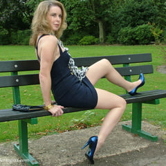 Sexy Legs And Heels On A Bench