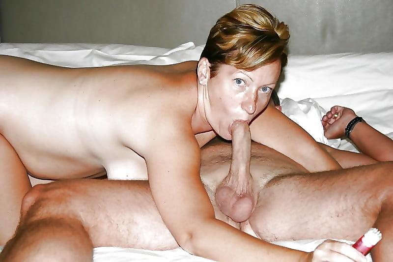 German mature wife gives husband blowjob 14